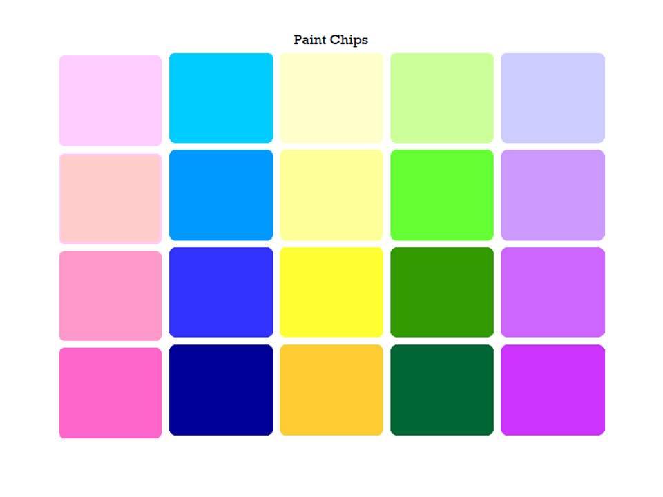 The Power Of Paint Chips Live Speak Love Llc