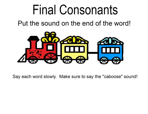 March 2012 Live Speak Love LLC – Final Consonant Deletion Worksheets