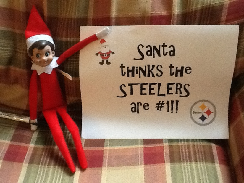 In honor of the big Steeler-Ravens rivalry here in Baltimore...here it is, folks - straight from the North Pole.